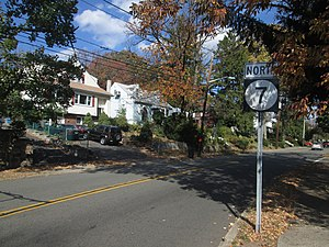 New Jersey Route 7 - Route 7 northbound through Nutley