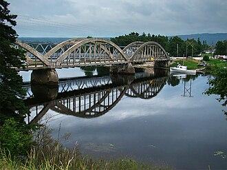 Humber River (Newfoundland and Labrador) - Nicholsville Bridge over the Humber