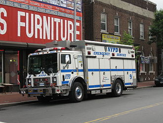 New York City Police Department Emergency Service Unit - Image: NYPD ESU 9 truck 5509