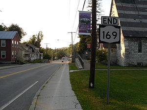 Middleville, New York - Looking north toward Middleville as New York State Route 169 ends.