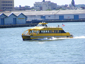 New York Water Taxi - The Ed Rogowsky on the East River near Brooklyn Heights