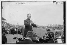 Nahan Franko at the Police Field Day benefit at Sheepshead Bay Speedway, August 31, 1918.jpg