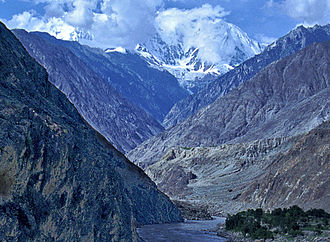 Canyon - The deepest canyon in the world, the Indus Gorge with Nanga Parbat, the world's 9th highest mountain, rising to the south.