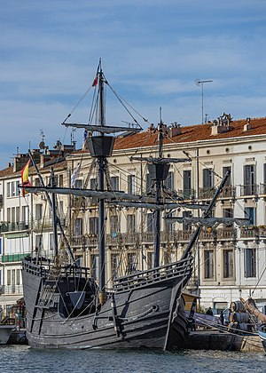 "Victoria (ship) - 1992 replica of Nao Victoria during ""Escale à Sète 2016"" in Hérault, France"