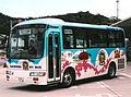 Naoshima choei bus HINO liesse blue.jpg