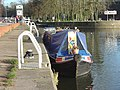 Narrowboat at Gunthorpe Lock - geograph.org.uk - 652838.jpg