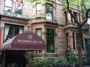 National Arts Club - The club's headquarters at 15 Gramercy Park South, the former Samuel J. Tilden House (May 2007)