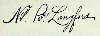 Nathaniel P. Langford - Image: National Park Langford Signature