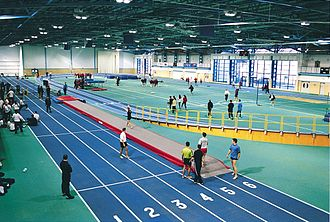 National Indoor Athletics Centre - Inside the National Indoor Athletics Centre