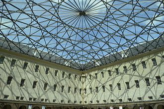 Nederlands Scheepvaartmuseum - The glass roof of the courtyard inspired by the compass rose on nautical maps.