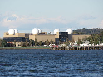 United States Naval Research Laboratory - This building on NRL's main campus features prominent radomes on its roof.