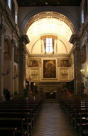 Sant'Anna dei Lombardi - aisle towards altar