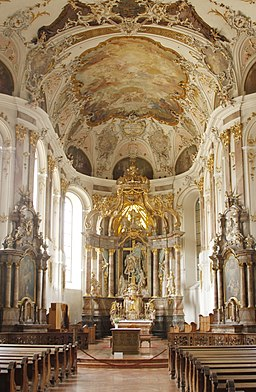 Nave and main altar - Augustinerkirche - Mainz - Germany 2017