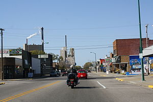 Nekoosa, Wisconsin - Looking west in downtown Nekoosa