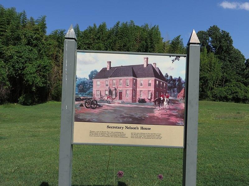 File:Nelson House Interpretive Sign, Yorktown Battlefield, Colonial National Historic Site, Yorktown, Virginia (14239464727).jpg