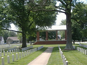 New Albany National Cemetery - Image: New Albany National Cemetery Rostrum 2