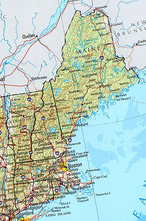 Geology of New England - Image: New england ref 2001