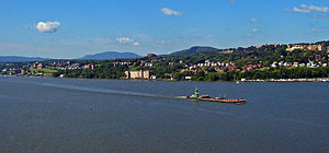 Newburgh from the Newburgh-Beacon Bridge