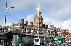 Newport bus station - Newport (Market Square) bus station in 2014