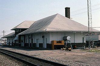 Newport station (Arkansas) - Newport station in March 1990