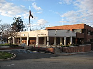 Newton, New Jersey - Newton's municipal building, located on Trinity Street, houses the town's offices, municipal court, and police department.