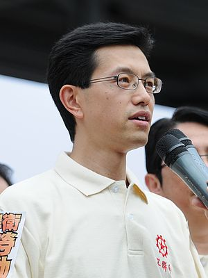 Ng Chau-pei - Ng at the May 1 march in 2011