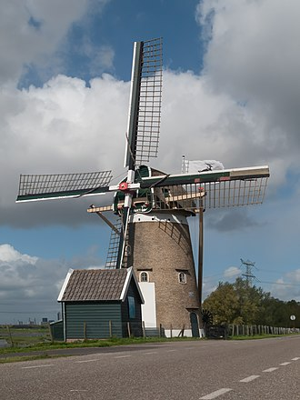 Nieuw-Beijerland - Image: Nieuw Beijerland, windmolen de Swaan RM30393 foto 2 2014 04 14 15.24