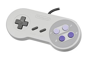 New-Style Super NES - Rebranded Super NES controller.