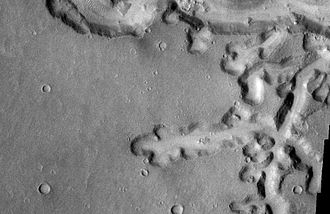 Vallis (planetary geology) - Image: Nirgal Vallis Close up