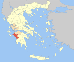 Elis within Greece