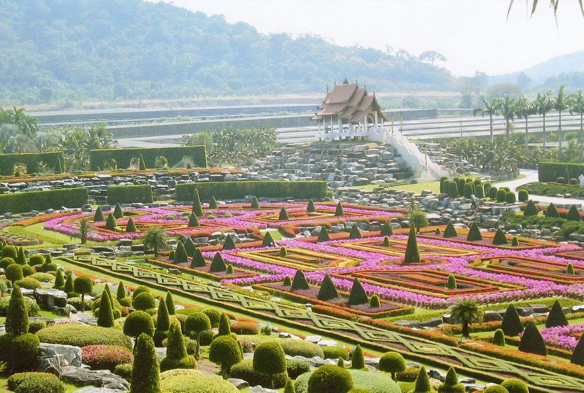 nong nooch tropical botanical garden wikipedia - Garden Design Birds Eye View