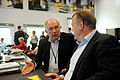 Nordiska ministerradets generalsekreterare Halldor Asgrimsson och Danmarks statsnminister Lars Loekke Rasmussen. Nordiskt globaliseringsforum 2010.jpg