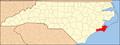 North Carolina Map Highlighting Carteret County.PNG