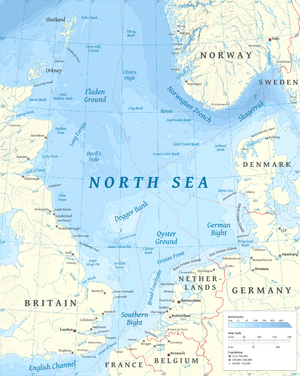 Dogger Bank - Image: North Sea map en