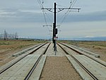 North along tracks from South Jordan Parkway station, Apr 16.jpg