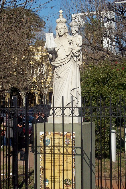 Our Lady of Buen Aire in front of the National Migration Department Nuestra Senora del Buen Aire plaza Cerdena.jpg