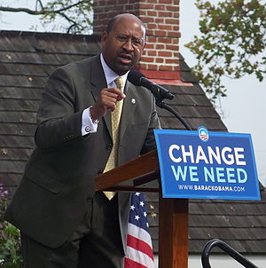 Michael Nutter - Nutter campaigning in support of Barack Obama.