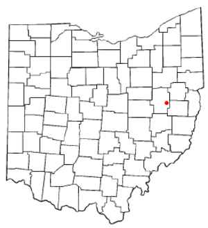 Dennison, Ohio - Image: OH Map doton Dennison