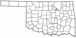 Location of Hallett, Oklahoma
