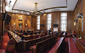 Supreme Court of Canada - SCC Courtroom panoramic view