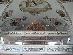 Oberau, Kath. Pfarrkirche hl. Margaretha, Chor.JPG