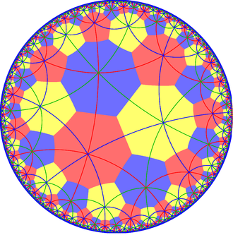Order-8 triangular tiling - Image: Octagonal tiling with 444 mirror lines