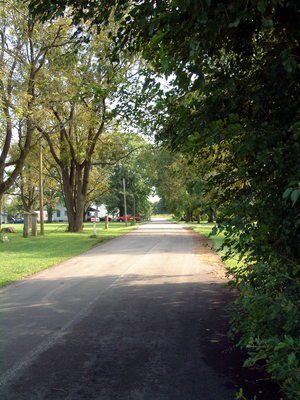Odell, Indiana - Looking south into Odell.