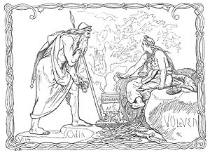 "Völva - ""Odin and the Völva"" (1895) by Lorenz Frølich."