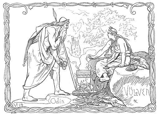 Odin og Völven by Frølich