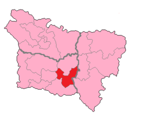 Oise's 5th constituency - Oise's 5th Constituency shown within Picardie.