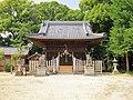 Okute Hachiman-sha shrine haiden, Okute-cho Toyoake 2018.jpg