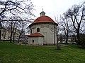 Olšanské náměstí, kostel svatého Rocha, od východu.jpg