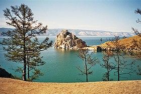 Байкал Википедия Шаман скала на острове Ольхон