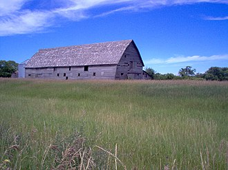 Rural Municipality of Cornwallis - An old barn on Provincial Road #349 just south of the city of Brandon, Manitoba.